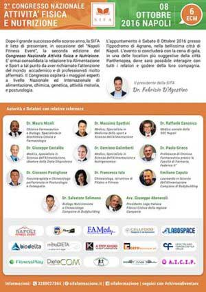 """GE.FO. nutrition Srl: locandina della 2° edizione del Congresso Nazionale ECM """"Attività Fisica e Nutrizione Sportiva"""""""