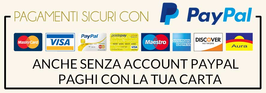 GE.FO. nutrition Srl: Pagamenti sicuri grazie a PayPal. Anche senza account PayPal paghi con la tua carta di credito