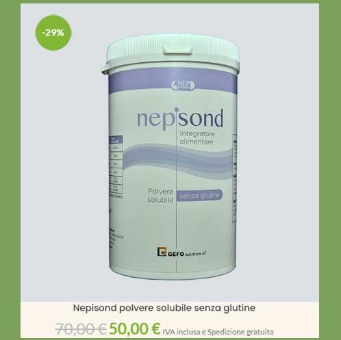 OFFERTA SPECIALE DEL 29% DI SCONTO sul Nepisond barattolo da 500 g di polvere solubile